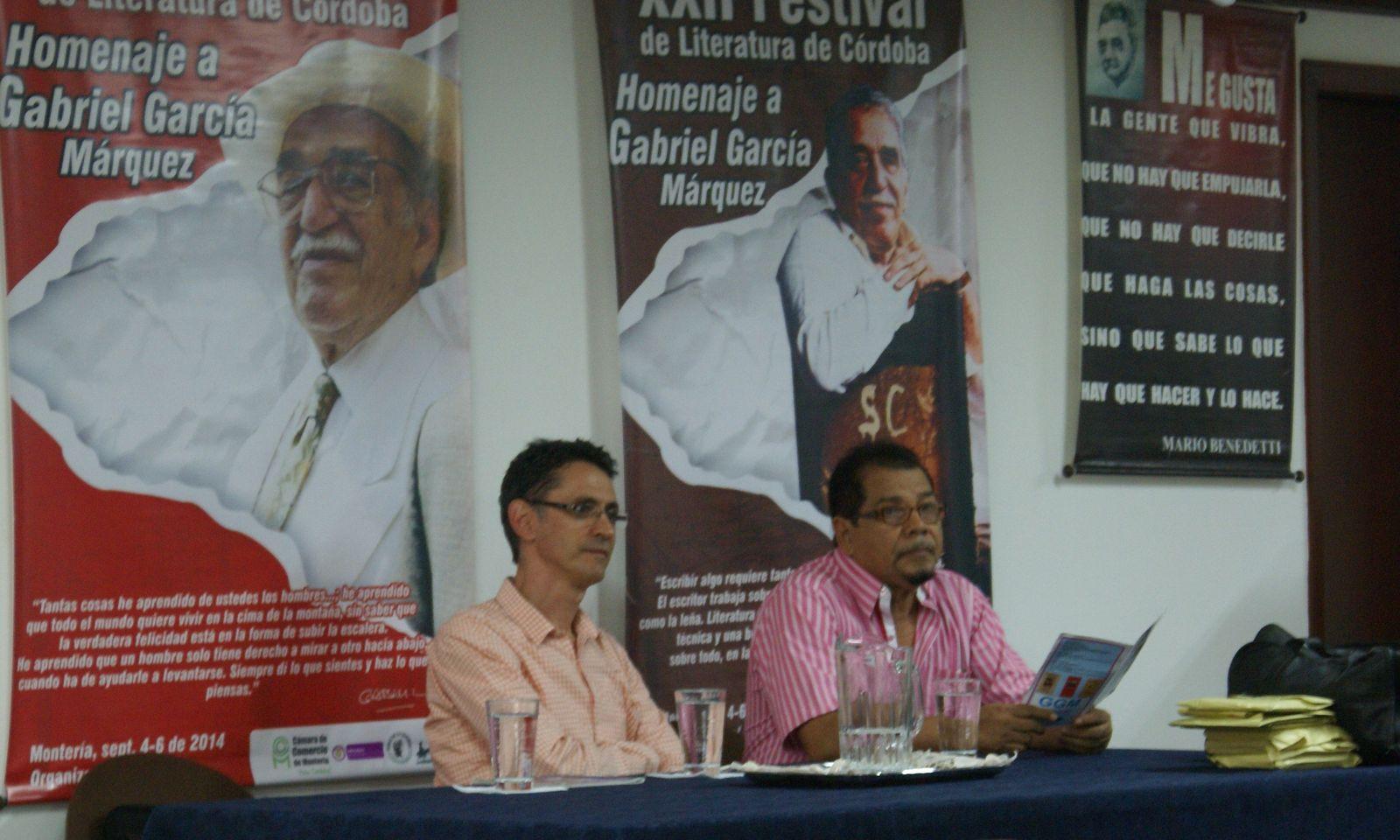 XXII Festival de Literatura de Córdoba y del Caribe- Pablo MOntoya, José Luis Garcés González