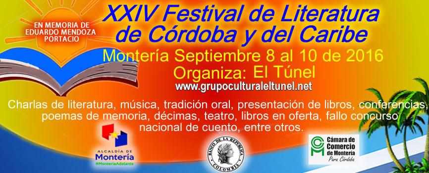 XXIV FESTIVAL DE LITERATURA DE CORDOBA Y DEL CARIBE